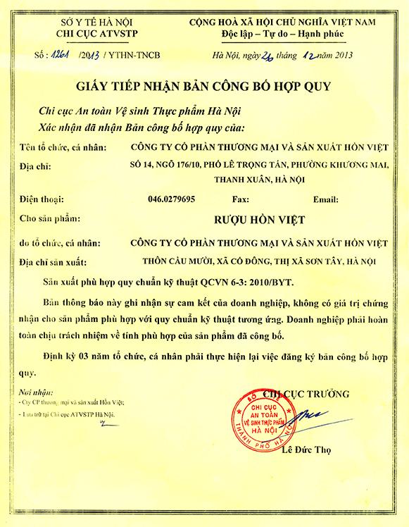 Giấy Phép Vệ Sinh ATTP - Giấy phép an toàn thực phẩm tại Hà Nội