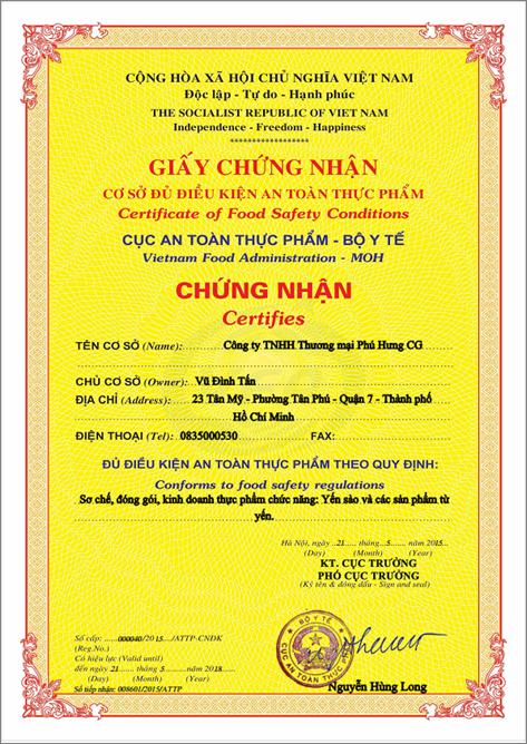 Xin giấy phép kinh doanh thực phẩm chức năng