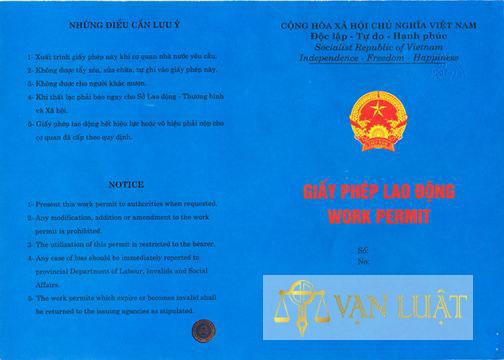 Mẫu giấy phép lao động 2013 trở về trước