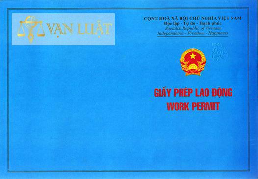 Mặt trước giấy phép lao động
