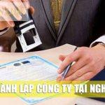 Thành lập công ty tại tỉnh Nghệ An