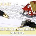 Hợp đồng thuê nhà là gì - Mẫu Hợp đồng thuê nhà 2019
