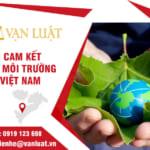 Đăng ký xác nhận bản cam kết bảo vệ môi trường tại Việt Nam