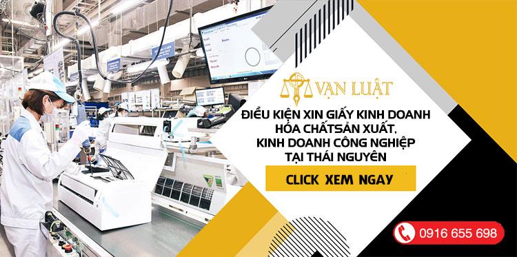 Điều kiện kinh doanh hóa chất trong ngành công nghiệp tại Thái Nguyên