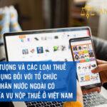Đối tượng và các loại thế áp dụng đối với tổ chức, cá nhân nước ngoài có nghĩa vụ nộp thuế ở Việt Nam