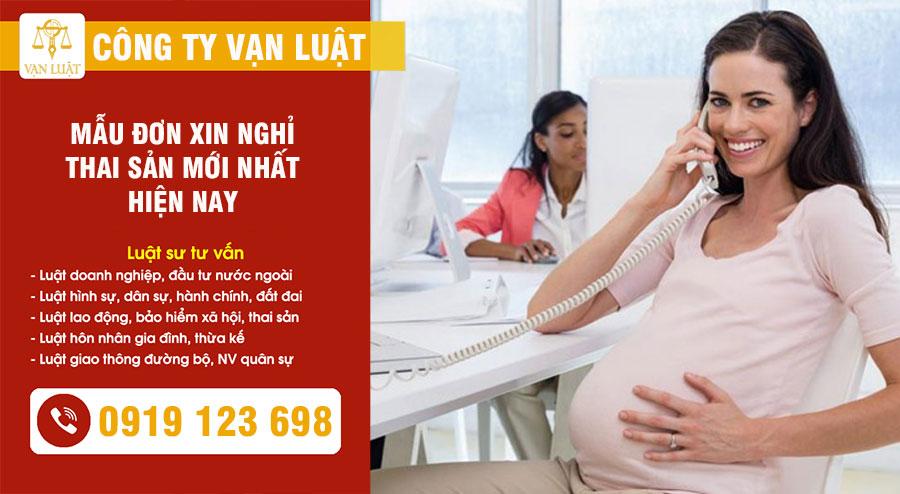 Mẫu đơn xin nghỉ việc hưởng chế độ thai sản mới nhất 2021