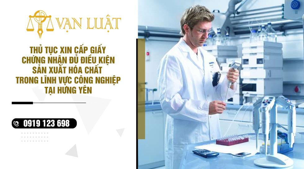 Giấy chứng nhận đủ điều kiện kinh doanh hóa chất tại Hưng Yên