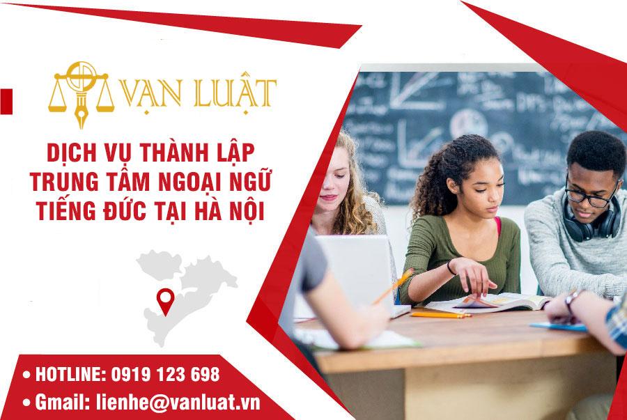 Giấy phép thành lập trung tâm Ngoại Ngữ tiếng Đức tại Hà Nội