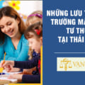 Những lưu ý khi mở trường mầm non tư thục tại Thái Bình