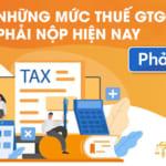 Những mức thuế giá trị gia tăng (GTGT) phải nộp hiện nay!