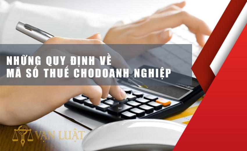Những Quy Định về mã số thuế cho doanh nghiệp