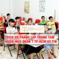 Thành lập trung tâm ngoại ngữ quận 7 Tp.HCM - Cam kết 100% Ra Giấy Phép