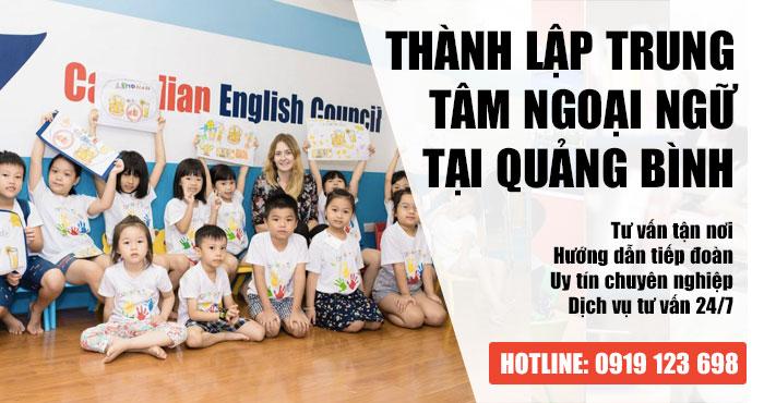 Tư vấn thành lập trung tâm ngoại ngữ tại Quảng Bình Giá Rẻ