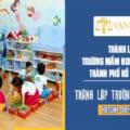 Thành lập trường nầm non tư thục tại Tp HCM
