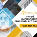 Thay đổi giấy chứng nhận đăng ký đầu tư tại Thái Nguyên