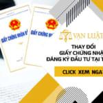 Thay đổi giấy chứng nhận đăng ký đầu tư tại Tp.HCM