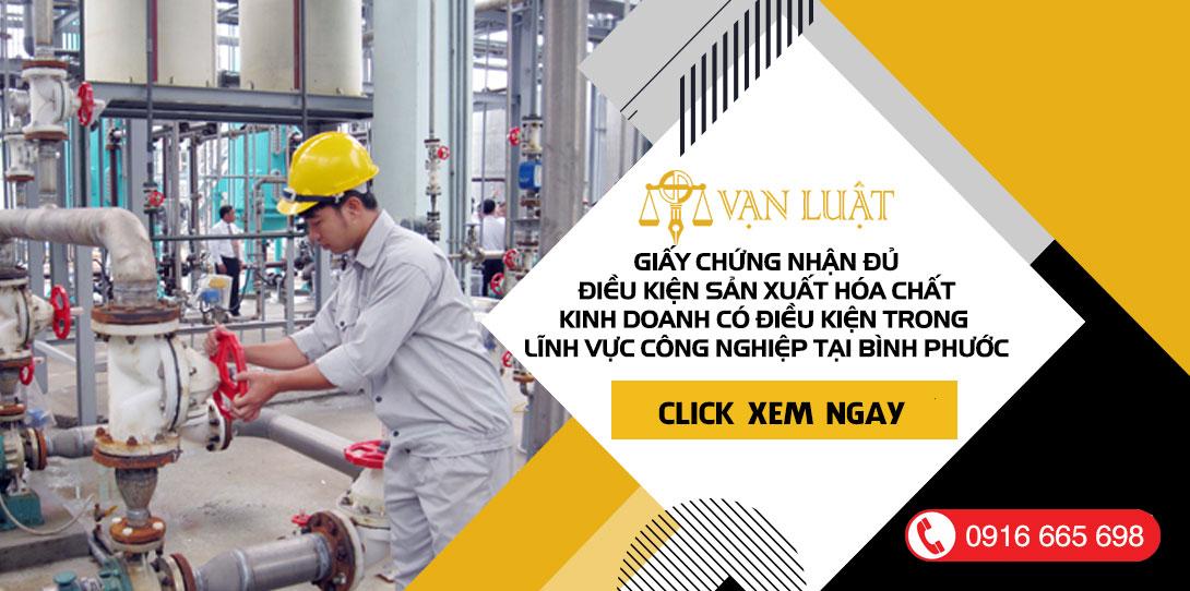 Thủ tục xin Giấy phép đủ điều kiện sản xuất, kinh doanh hóa chất tại Bình Phước